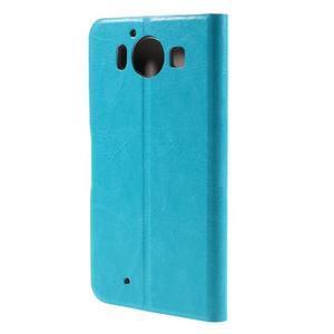 Horse PU kožené pouzdro na mobil Microsoft Lumia 950 - modré - 2
