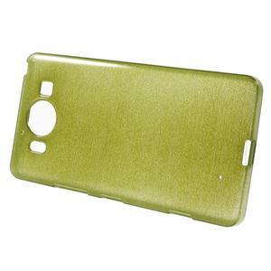 Brush hladký gelový obal na Microsoft Lumia 950 - zelený - 2
