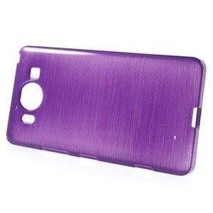 Brush hladký gelový obal na Microsoft Lumia 950 - fialový - 2