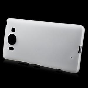 Matný gelový obal na Microsoft Lumia 950 - bílý - 2