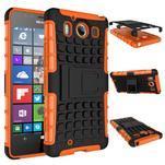 Outdoor odolný kryt na mobil Microsoft Lumia 950 - oranžový - 2/3