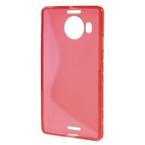 S-line gelový obal na mobil Microsoft Lumia 950 XL - červený - 2
