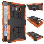 Odolný outdoor obal na mobil Microsoft Lumia 950 XL - oranžový - 2/2