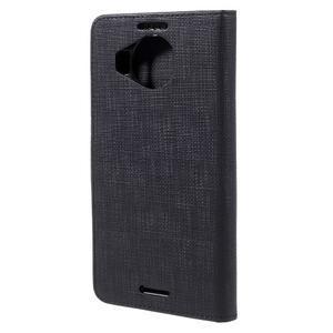 Cloth PU kožené pouzdro na mobil Microsoft Lumia 950 XL - černé - 2