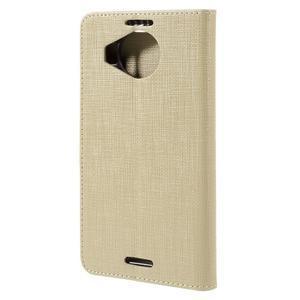 Cloth PU kožené pouzdro na mobil Microsoft Lumia 950 XL - champagne - 2