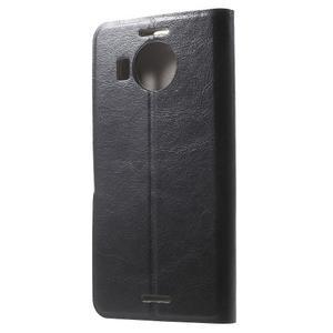 Horse peněženkové pouzdro na Microsoft Lumia 950 XL - černé - 2