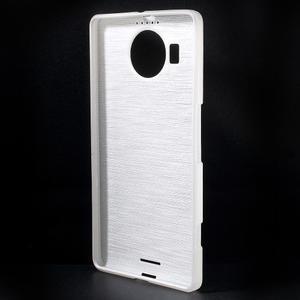 Brushed gelový obal na mobil Microsoft Lumia 950 XL - bílý - 2