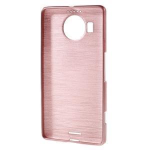 Brushed gelový obal na mobil Microsoft Lumia 950 XL - růžový - 2
