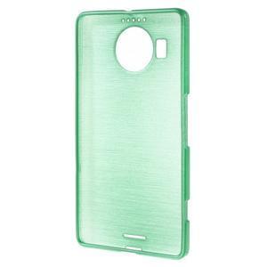 Brushed gelový obal na mobil Microsoft Lumia 950 XL - cyan - 2