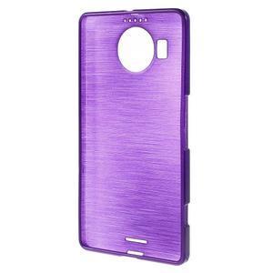 Brushed gelový obal na mobil Microsoft Lumia 950 XL - fialový - 2