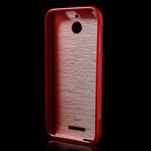 Brushed hladký gelový obal na HTC Desire 510 - červený - 2