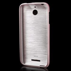Brushed hladký gelový obal na HTC Desire 510 - růžový - 2