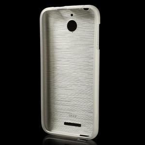 Brushed hladký gelový obal na HTC Desire 510 - zlatý - 2