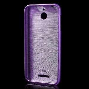 Brushed hladký gelový obal na HTC Desire 510 - fialový - 2