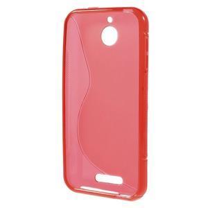 S-line gelový obal na mobil HTC Desire 510 - červený - 2