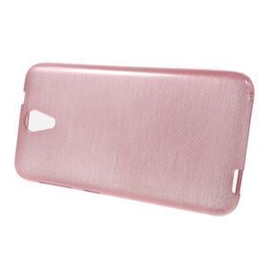 Brushed hladký gelový obal na HTC Desire 620 - růžový - 2