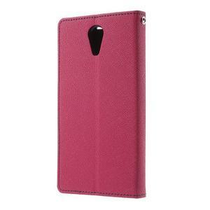 Diary PU kožené pouzdro na mobil HTC Desire 620 - rose - 2