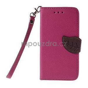 PU kožené pouzdro se zapínáním na Nokia Lumia 730/735 - rose - 2