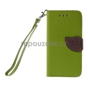 PU kožené pouzdro se zapínáním na Nokia Lumia 730/735 - zelené - 2