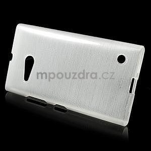 Gelový obal Brush na Nokia Lumia 730/735 - bílý - 2