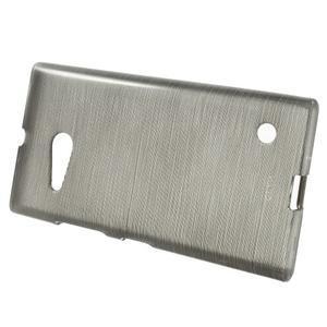 Gelový obal Brush na Nokia Lumia 730/735 - šedý - 2