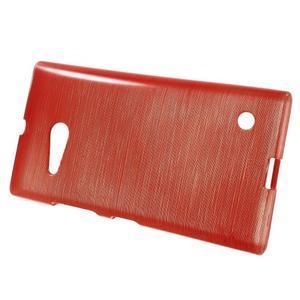 Gelový obal Brush na Nokia Lumia 730/735 - červený - 2