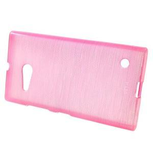 Gelový obal Brush na Nokia Lumia 730/735 - rose - 2