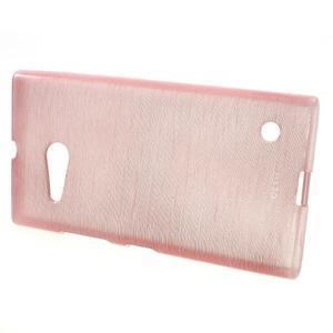 Gelový obal Brush na Nokia Lumia 730/735 - růžový - 2