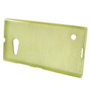 Gelový obal Brush na Nokia Lumia 730/735 - zelený - 2