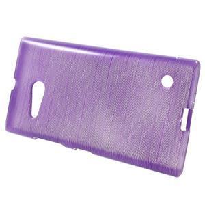 Gelový obal Brush na Nokia Lumia 730/735 - fialový - 2