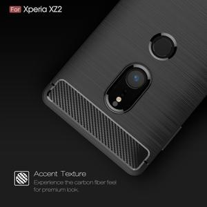 Carbon odolný gelový obal s broušením na Nokia 6 (2018) - černý - 2
