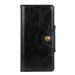 Retro PU kožené pouzdro na Nokia 6 (2018) - černé - 2