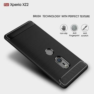 Carbon odolný gelový obal s broušením na Nokia 6.1 - tmavěmodrý - 2