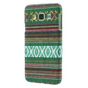 Obal potažený látkou na Samsung Galaxy A3 - zelený - 2