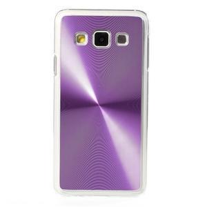 Metalický plastový obal na Samsung Galaxy A3 - fialový - 2