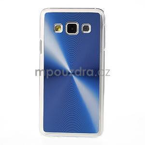 Metalický plastový obal na Samsung Galaxy A3 - modrý - 2