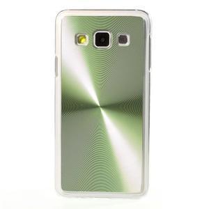 Metalický plastový obal na Samsung Galaxy A3 - zelený - 2