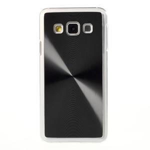 Metalický plastový obal na Samsung Galaxy A3 - černý - 2