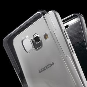 Gelový obal 2v1 pro zadní kryt a displej na Samsung Galaxy A5 (2016) - šedý - 2