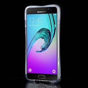 Tvarovaný gelový obal na Samsung Galaxy A5 (2016) - fialové pampelišky - 2