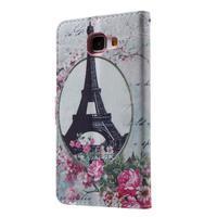 Koženkové pouzdro na Samsung Galaxy A5 (2016) - Eiffelova věž - 2/6