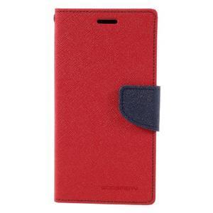 Fancy pouzdro na mobil Samsung Galaxy A5 (2016) - červené - 2