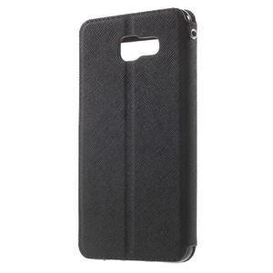 Peněženkové pouzdro s okýnkem na Samsung Galaxy A5 (2016) - černé - 2