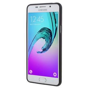 Gelový obal s koženkovým vzorem na Samsung Galaxy A5 (2016) - grafity - 2