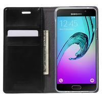 Moon PU kožené pouzdro na Samsung Galaxy A5 (2016) - černé - 2/7