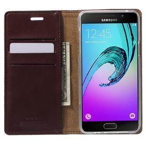 Moon PU kožené pouzdro na Samsung Galaxy A5 (2016) - vínové - 2
