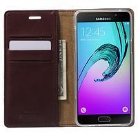 Moon PU kožené pouzdro na Samsung Galaxy A5 (2016) - vínové - 2/7