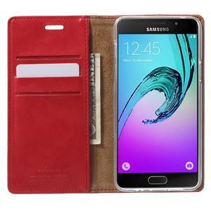 Moon PU kožené pouzdro na Samsung Galaxy A5 (2016) - červené - 2