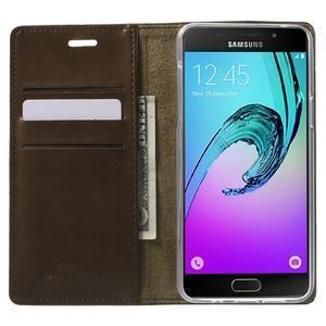 Moon PU kožené pouzdro na Samsung Galaxy A5 (2016) - coffee - 2
