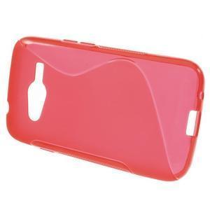 Gelové s-line pouzdro na Samsung Galaxy Ace 4 - červené - 2